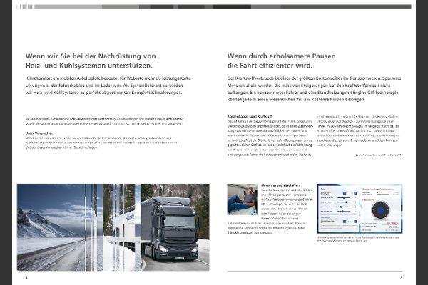 Lkw, effizientere Fahrt - Webasto