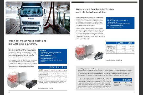 Lkw Luftheizung, Kraftstoff und Emission senken