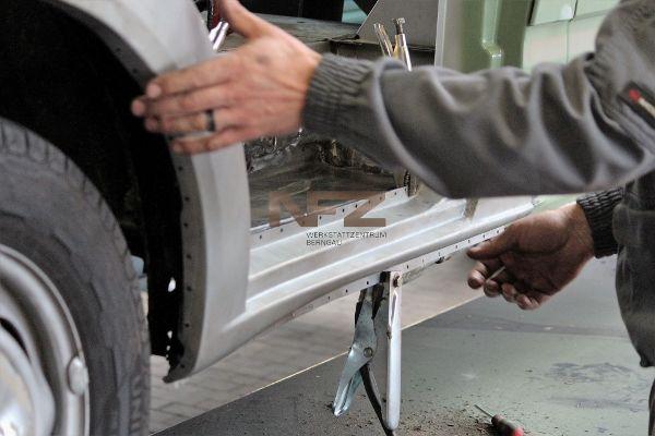 Anpassung neues Karosserieblech, Radlauf, Schweller