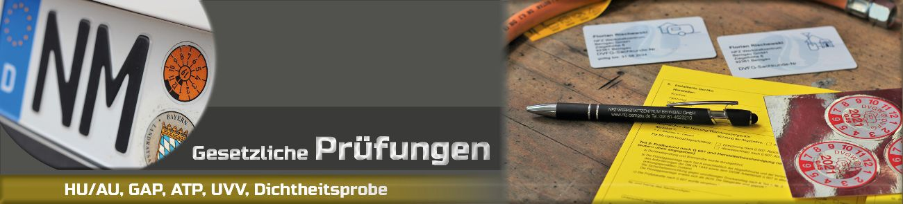 Prüftermine im NFZ Werkstattzentrum Berngau, bei Neumarkt. Gasanlagenprüfung für Ihr Wohnmobil und v
