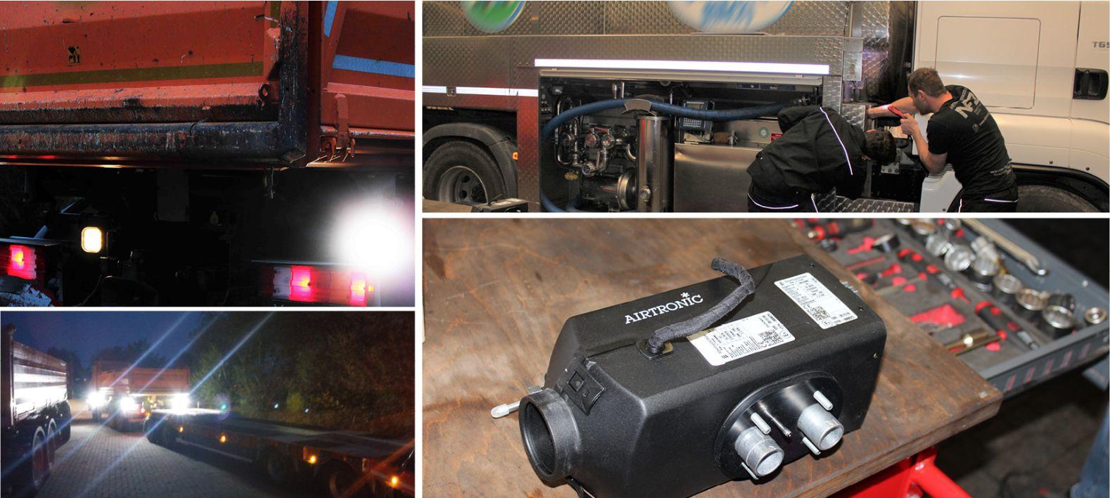 Nachrüstungen für Lkw: Arbeitsscheinwerfer und Standheizung