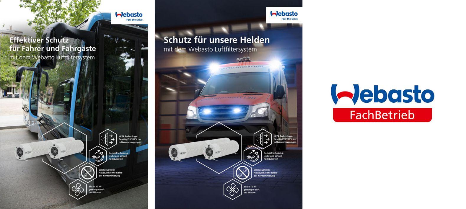 Webasto Luftfiltersystem für Bus und Rettungswagen