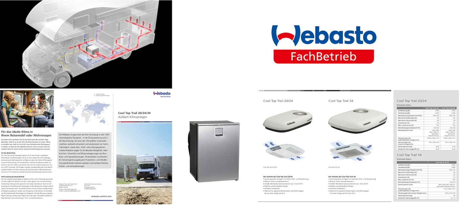 Webasto Standheizung Wohnmobil, Kühlschrank