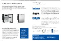 Webasto - Isotherm Kühlschränke